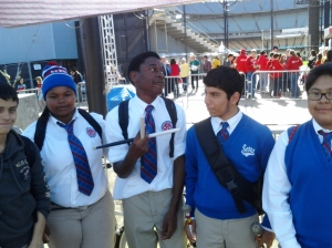 Members of the J Serra band at Go to Bat for Life.  Image by Shayn Roby
