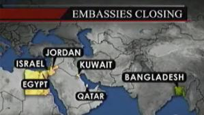Middle Eastern Embassies Closed on Sunday