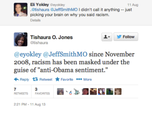 Tishaura O. Jones:  Opposing Barack Obama's Policies Makes One a Racist