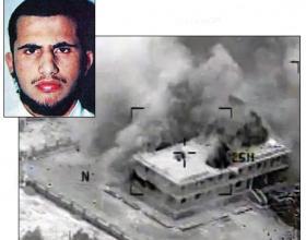 ABOVE, MUHSIN AL FADHLI; BELOW, A SEPTEMBER 23 BOMBING RUN NEWSCOM